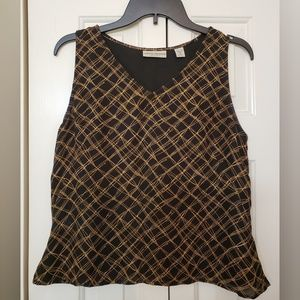 Valerie Stevens Silk Sleeveless Top M